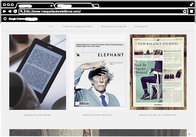 Diseño web minimalista y profesional